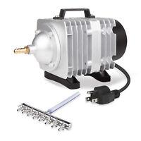 VIVOSUN 1100 GPH O2 Air Pump 8 Outlet for Aquarium Fish Tank Hydroponic Pond 50W