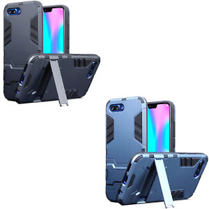 Tough Armour Dual Layer Back Case Cover with Stand for Huawei Honor 10 Phone