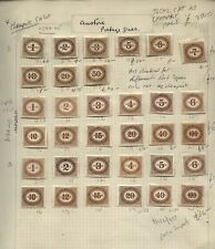 1894-1935 AUSTRIA POSTAGE DUE Stamp COLLECTION old time Lot CAT £700-+