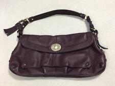 Hayden Harnett Purple Pebbled Leather Envelope Turnlock Flap Purse Shoulder Bag
