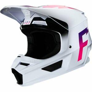 2020 Fox Racing Adult Mens V1 Werd MX Motocross Off Road Helmet White 23978