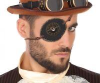 Bandeau Cache Oeil STEAMPUNK Accessoire Costume Homme Victorien NEUF Pas cher