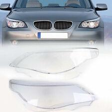 Clear Pair Headlamp Headlight Lamp Cover Lens for BMW 5-Series E60/E61 2003-2010