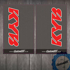 KYB Carbon Upper Fork Graphics - Honda CR CRF Red Stickers Decals