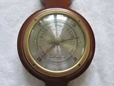 Vintage Airguide Banjo Wooden Weather Station Thermometer Barometer Hygrometer