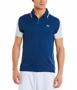 Lacoste Mens Ultra Dry Rugby Polo Shirt, Blue, XXX-Large
