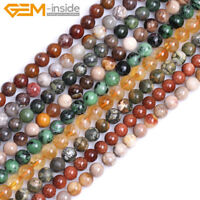 "Natural 8mm Assorted Stones Round Loose Beads For Jewellery Making Strand 15"" UK"