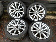 "Set 4 Genuine Audi A5 18"" Alloy Wheels S Line 245 40 tyres 10 spoke"