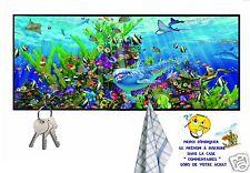 accroche clés mural en bois dauphin réf 10 personnalisable prénom