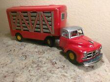 Large Vintage Tin Friction Truck Japan