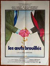 Affiche LES OEUFS BROUILLES Joel Santoni JEAN CARMET Jean-Claude Brialy 60x80cm