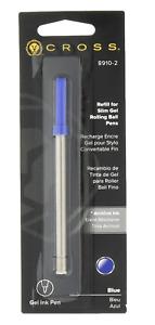 CROSS PEN 8910 SLIM GEL ROLLING BALL ROLLERBALL REFILL BLUE