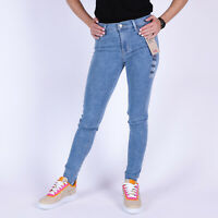 Levi's 720 High Rise Super Skinny Hypersoft Full House Damen Blau Jeans 28/32