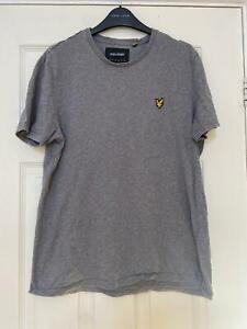 Lyle & Scott Grey T-shirt Size Large Mens Short Sleeve (K996)