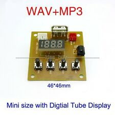 5V MP3 KIT WAV MP3 Player Audio Decoding Decoder Module Board w usb Digital led