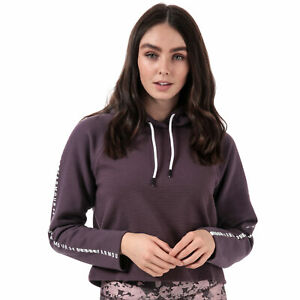 Womens Under Armour Microthread Fleece Hoody In Purple
