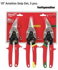 NU Milwaukee Tools 3pcs Snips 48-22-4533 Aviation Cutting Metal stainless steel
