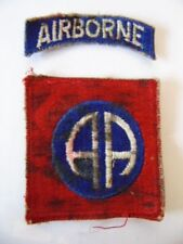 US ARMY 82ND AIRBORNE : 2 INSIGNES 39-45  PATCH WW2 ? PARATROOPS NORMANDIE PARAS