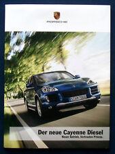 PROSPEKT BROCHURE NUOVI PORSCHE CAYENNE Diesel (D, 2008)