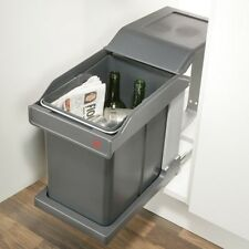 Pull Out Waste Bin with runner 20 litre for 300mm cabinet (Hafele 50243500)