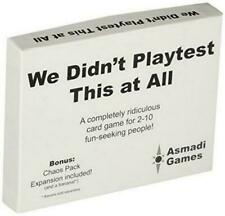 We Didnt Playtest This at All Fast Paced Party Asmadi Games Asn0003