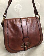 FOSSIL VINTAGE REISSUE Burgundy DISTRESS Leather Crossbody Messenger Purse Bag