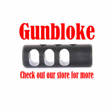 "Muzzle brake LIGHT ALUMINIUM 1/2x20(1/2""UNF)  UK HOWA rifles Bored to suit"