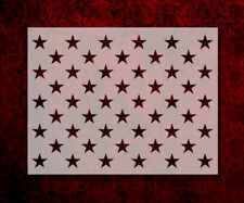 "50 Stars Flag Star Pattern 11"" x 8.5"" Custom Stencil FAST FREE SHIPPING (485)"