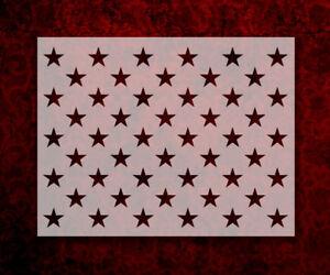 """50 Stars Flag Star Pattern 11"""" x 8.5"""" Custom Stencil FAST FREE SHIPPING (485)"""