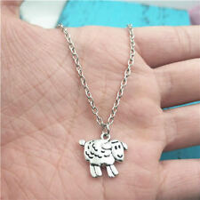 sheep animal silver Necklace pendant ornament ,creative jewelry birthday Gift