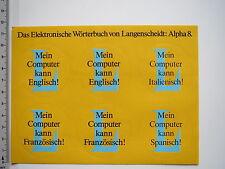Aufkleber Sticker Langenscheidt - Alpha 8 - Fremdsprachen lernen (M1799)