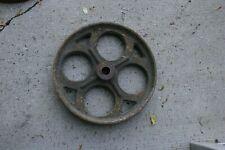 Antique Cast Iron Factory or Railroad Cart Wheel