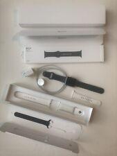 Apple iwatch Series 1 42mm Aluminum Case Watch MNNL2LL/A w/ Sport Bands + Extras