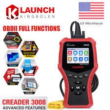 Launch OBDII CR3008 Auto OBD2 Battery Test Engine Diagnostic Code Reader Scanner