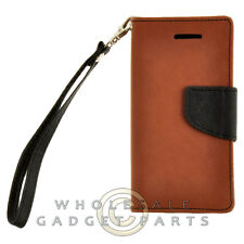 Apple iPhone 5C/i5C/Lite Wallet Pouch Brown/Black Case Cover Shell Guard Shield