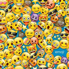 Emoji faces By The Yard cotton print