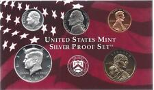 2000-S PARTIAL SILVER PROOF SET CENT, NICKEL, DIME,  HALFAND SAC DOLLAR  5 COINS