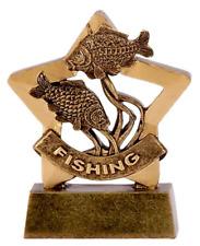 Personalised Mini Star Fishing Trophy (gw) ENGRAVED FREE