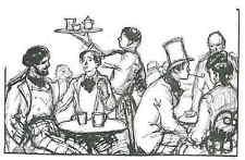 Cafetería casa filosofías-Émilien Dufour-original corte de madera 1935