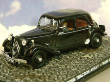 1/43 Moulage sous Pression James Bond 007 CITROËN Traction avant Noir de Russe À