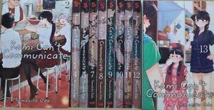 Komi Can't Communicate Vol 2-5,7-13 English Manga Graphic Novels New Lot Viz