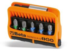 Beta Tools 860 MIX/A10 10pc Bit Set (Flat, PH, PZ) with Magnetic Holder in Case
