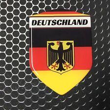 "Germany Deutschland Proud Shield Domed Decal Emblem Car Sticker 3D 2.3""x 3.3"" Ho"