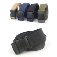 Men Quick Release Buckle Military Trouser Belt Army Cobra Tactical Nylon Webbing
