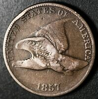 1857 FLYING EAGLE CENT - Near FINE
