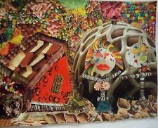 "Original art collage ""Sweet Romance"" by Nancy.  9"" x 12"""