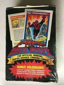 1990 MARVEL UNIVERSE series 1 Factory Sealed Box , 36 Packs WOW CRAZY  PSA BGS