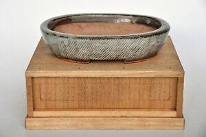 Shimaoka Tatsuzō Living National Treasure Handmade Japanese Oval Bonsai Pot RARE