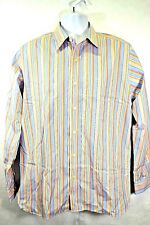 Mens Gap Classic Fit Med 15-15.5 LS Stripe Button Casual Dress Shirt