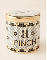 NEW Anthropologie A Pinch SPICE JAR French Bistro Tile Lidded Food Canister